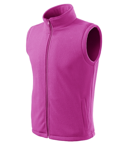 Unisex fleece vesta Next - fuchsiová - S