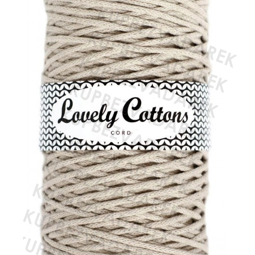 Šňůra Lovely Cottons - 100% bavlna - 3mm/200m - cappuccino